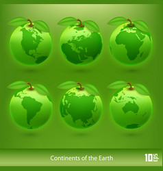 ecology planet vector image vector image
