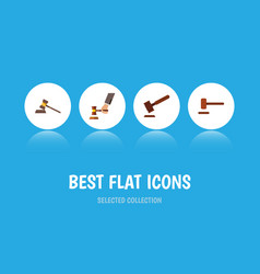 Flat icon lawyer set of court justice crime and vector