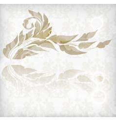 floral abstract card vector image vector image