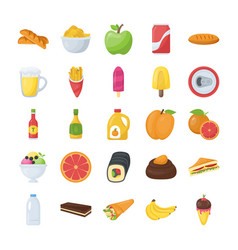 Food and drinks icons pack vector