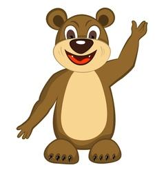 Funny Cartoon Bear vector image vector image