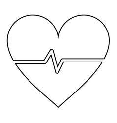 Heart cardiogram healthcare related icon image vector