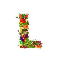 LETTER vegetabless L vector image