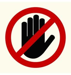 No entry stop hands vector image