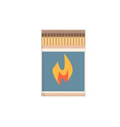 Open matchbox with matches vector