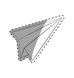 Paper plane draw vector image vector image