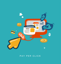pay per click invert vector image vector image