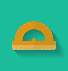Protractor icon Flat style vector image