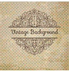 Retro Background With Vintage Elements vector image