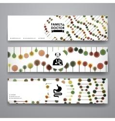 Set of modern design banner template in healthcare vector image