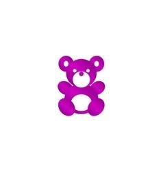 Teddy bear plush toy flat icon vector