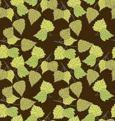 Birch leaves brown background vector