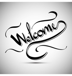 Welcome greetings hand lettering set vector