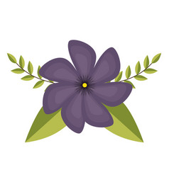 Cute flowers decorative icon vector