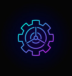 Wind energy in gear concept colorful icon vector