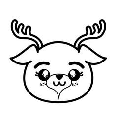 Isolated cute deer face vector