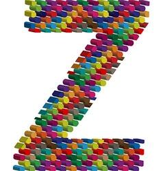 3d font letter Z vector image vector image