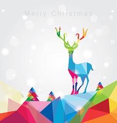 3d origami low polygon reindeer vector image vector image
