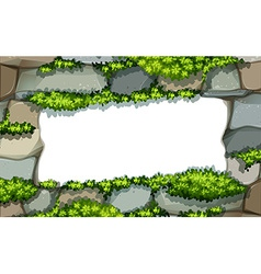 Stonewall frame vector