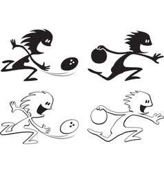 shadow people bowlers vector image