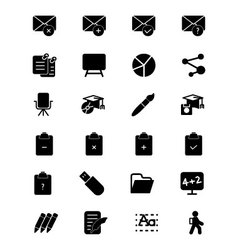 Education solid icons 8 vector