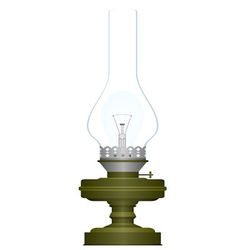 Electric and kerosene lamp vector image