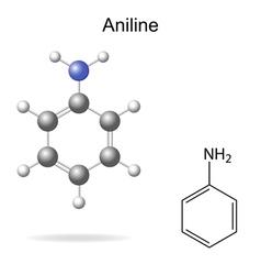 Aniline molecule vector image