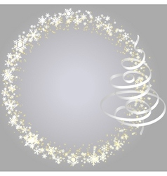 xmas frame with snowlakes vector vector image