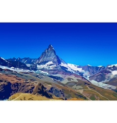 Alps matterhorn mountain vector