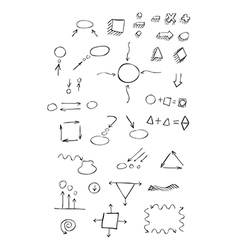 Thin hand drawn arrows talk bubble geometric shape vector