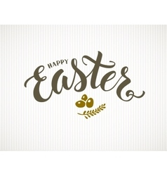 Happy Easter lettering vector image