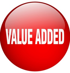 Value added red round gel isolated push button vector