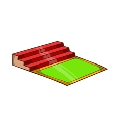 Small football stadium icon cartoon style vector