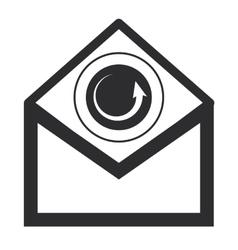 Envelope with circular arrow icon vector
