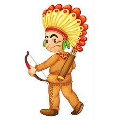 American indian boy vector
