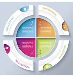 Abstract infographic design with circle vector image