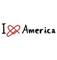 America love icon vector