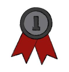 award ribbon symbol vector image vector image