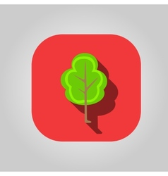 Beautiful icon flat blossoming tree eps vector