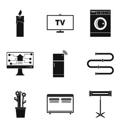 Chores icons set simple style vector
