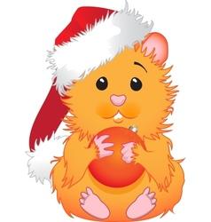 christmas hamster vector image