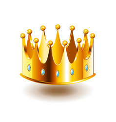 Classic crown isolated on white vector