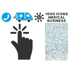 Click icon with 1000 medical business symbols vector