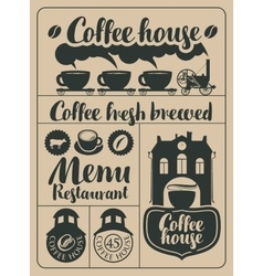 Coffee and hot drinks vector