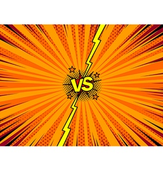 Comic book versus template background vector
