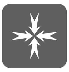 Compression arrows flat squared icon vector