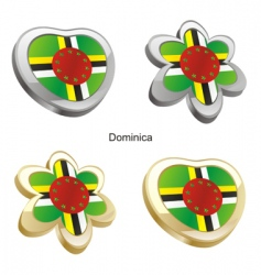 flag of Dominica vector image vector image