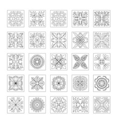 floral pattern collection doodle flower vector image vector image
