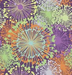 Garlic floral seamless print vector image