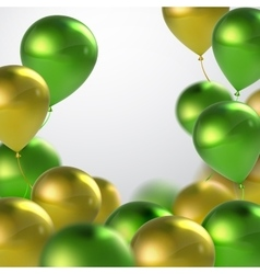 Green and golden balloons vector